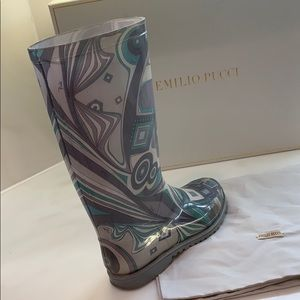 Authentic Emilio Pucci high waterproof rain boots